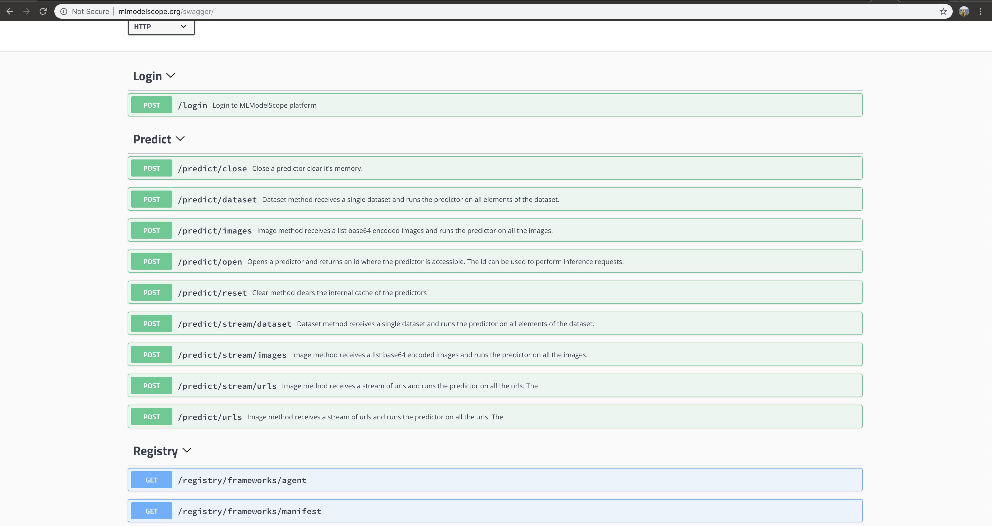 REST API :: MLModelScope